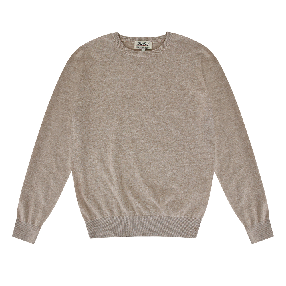 Essential Crew neck Knit (Oatmeal)