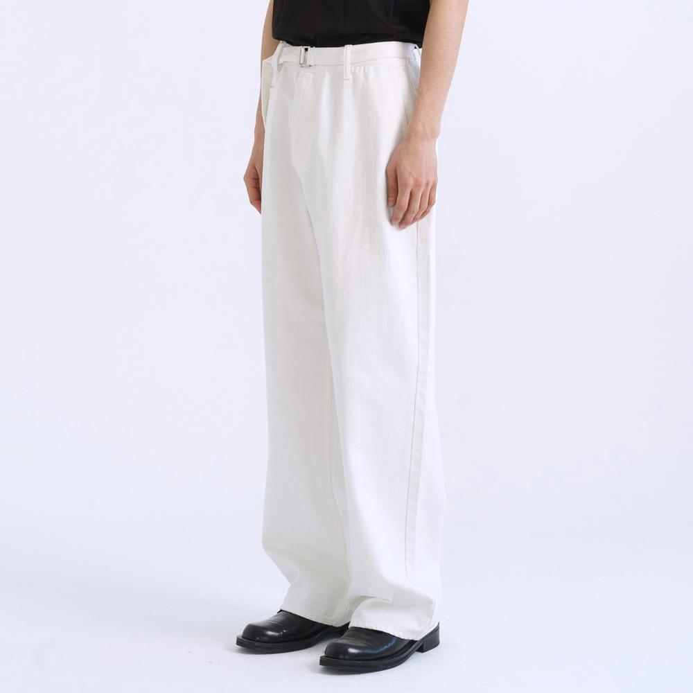 [OCO 단독 선공개]  belted denim pants (white)_2월23일배송