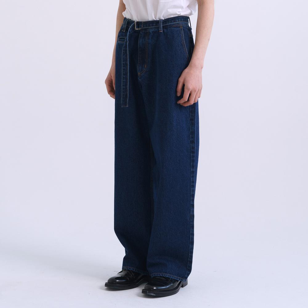 [OCO 단독 선공개] belted denim pants (blue)_3월2일배송