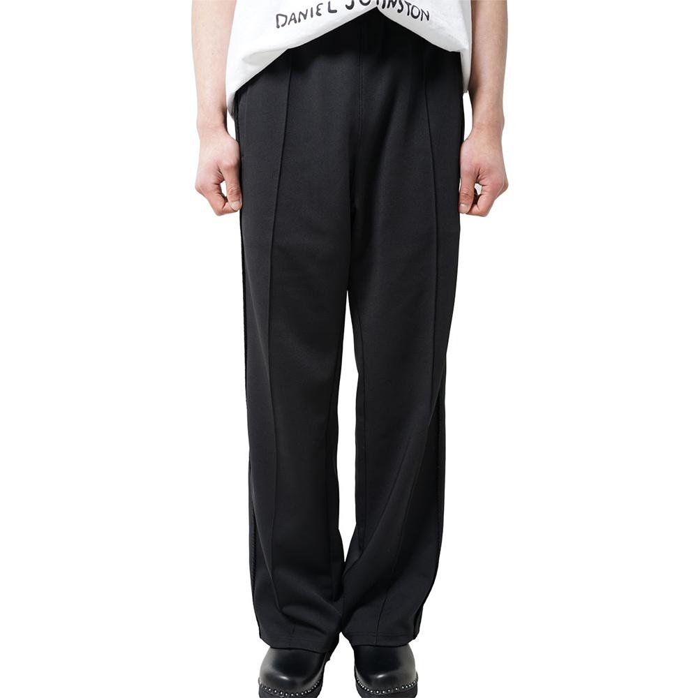 ROPE SIDE LINE TRACK PANTS (Black)