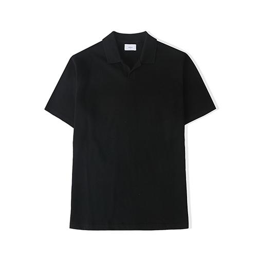 21S/S 오버핏 피케티셔츠 (블랙)