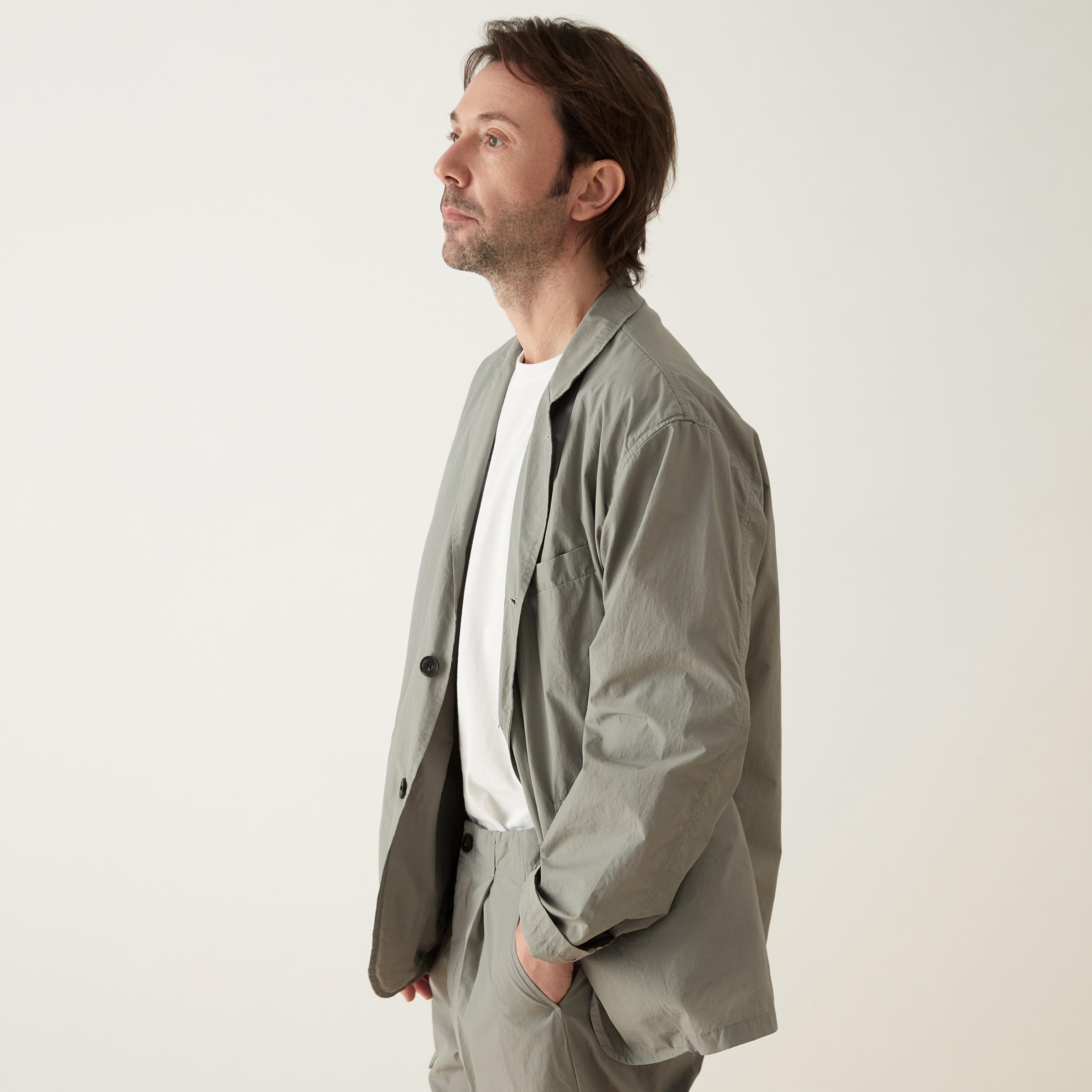 koyu man - nylon jacket (gray)