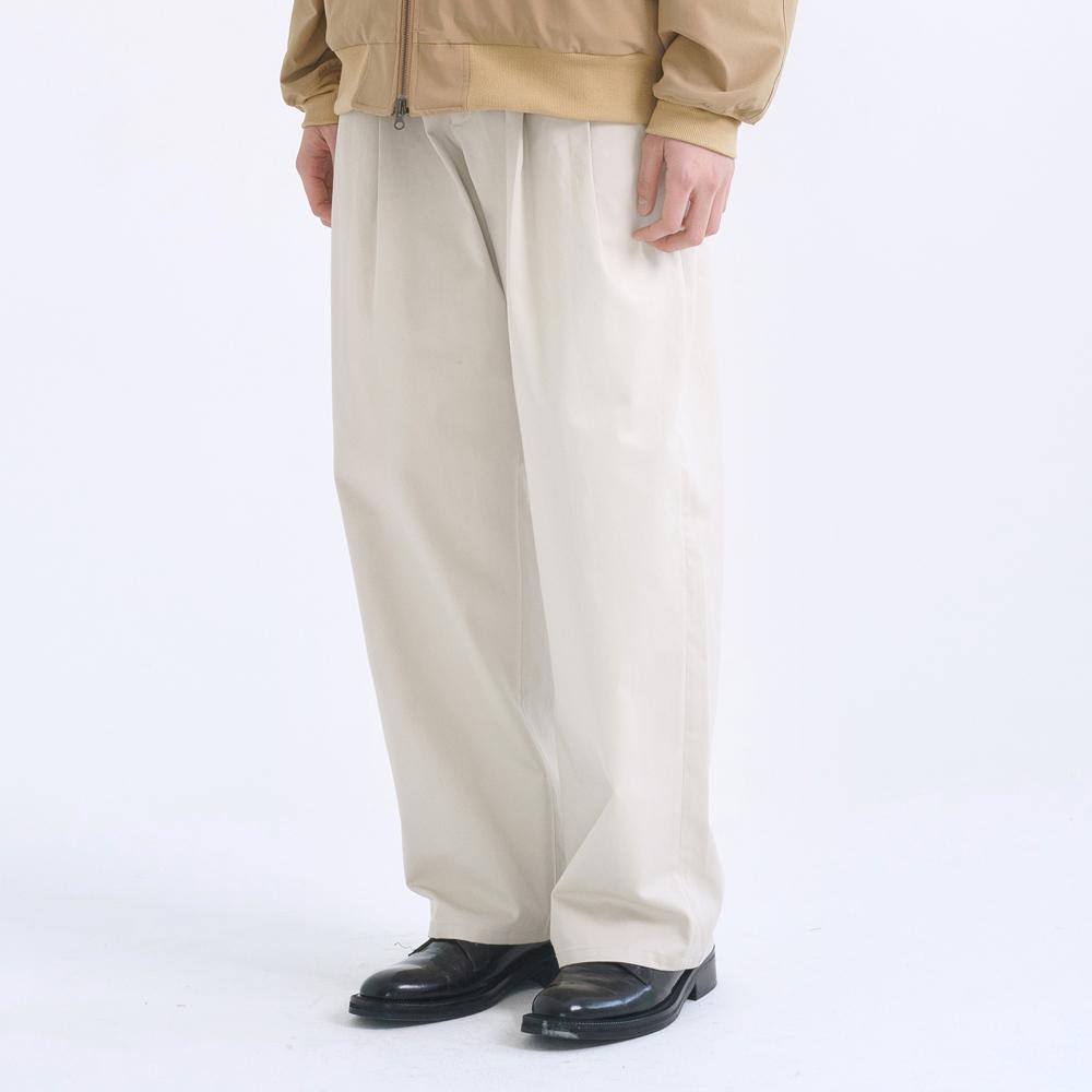 wide chino pants (ivory)