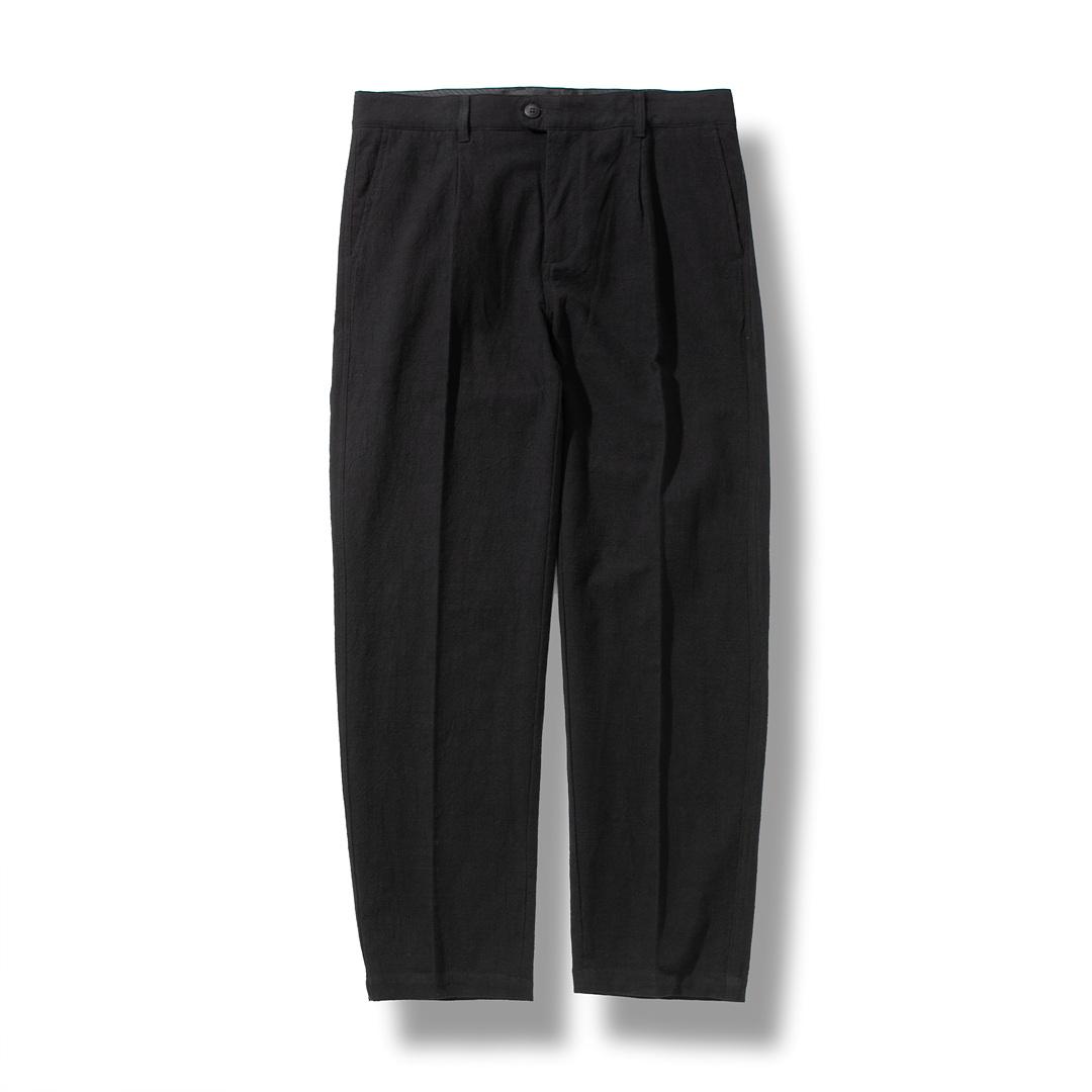 [예약배송/5월12일 순차배송]LINEN TAPERED PANTS BLACK