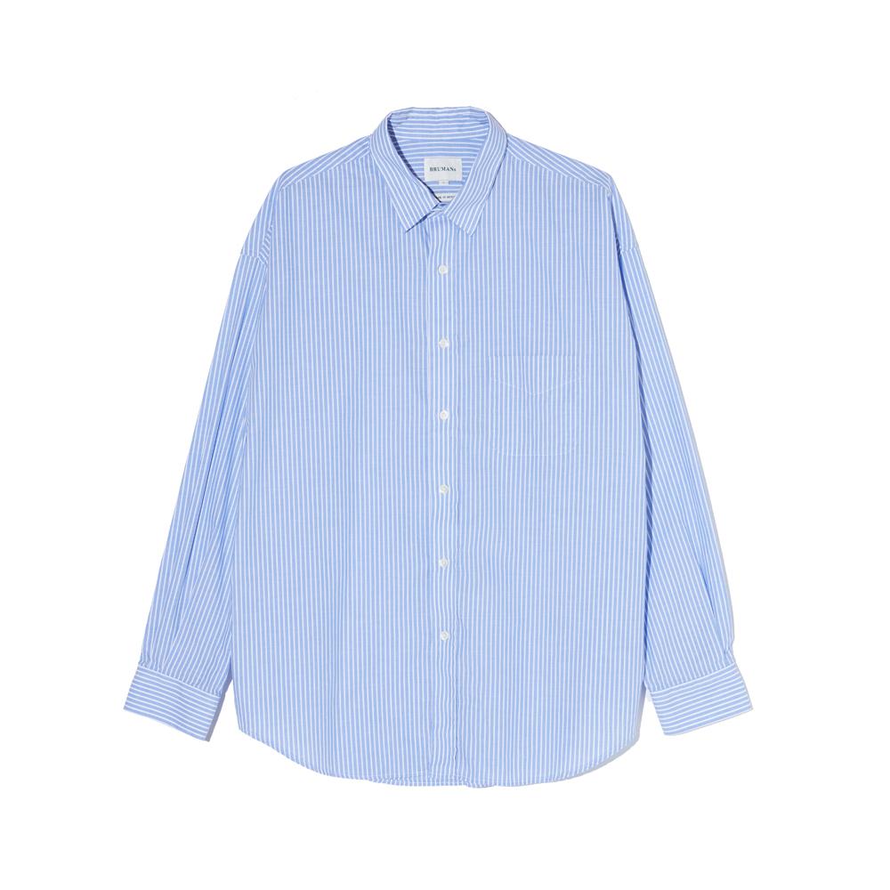 Light Stripe Shirt (Saxe Blue)