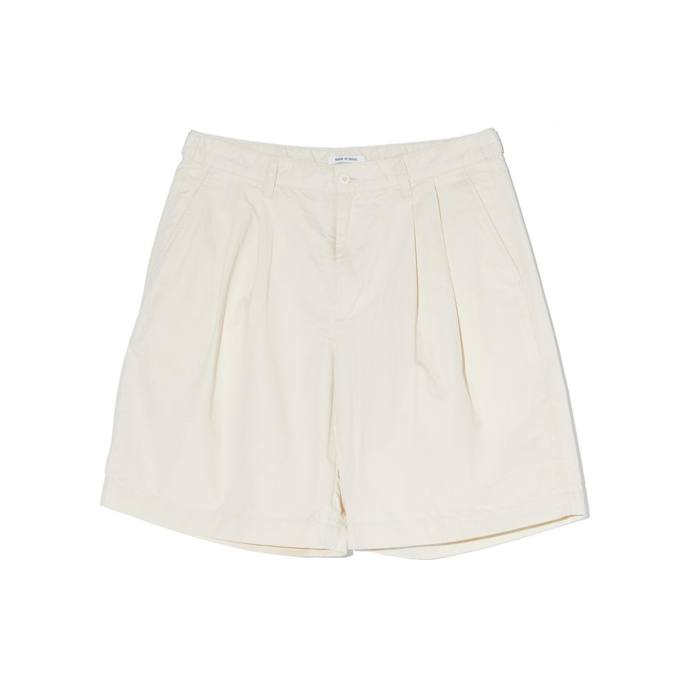 Wide Chino Shorts (Cream)