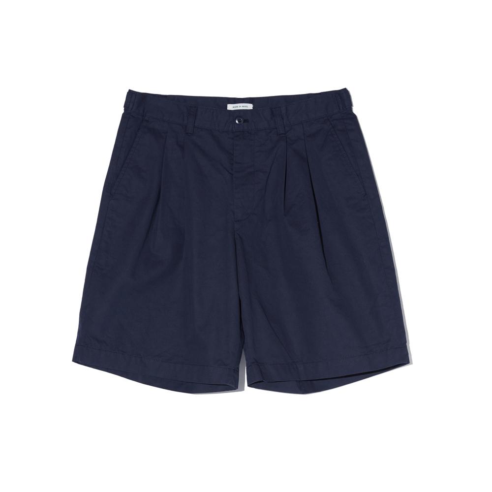 Wide Chino Shorts (Navy)