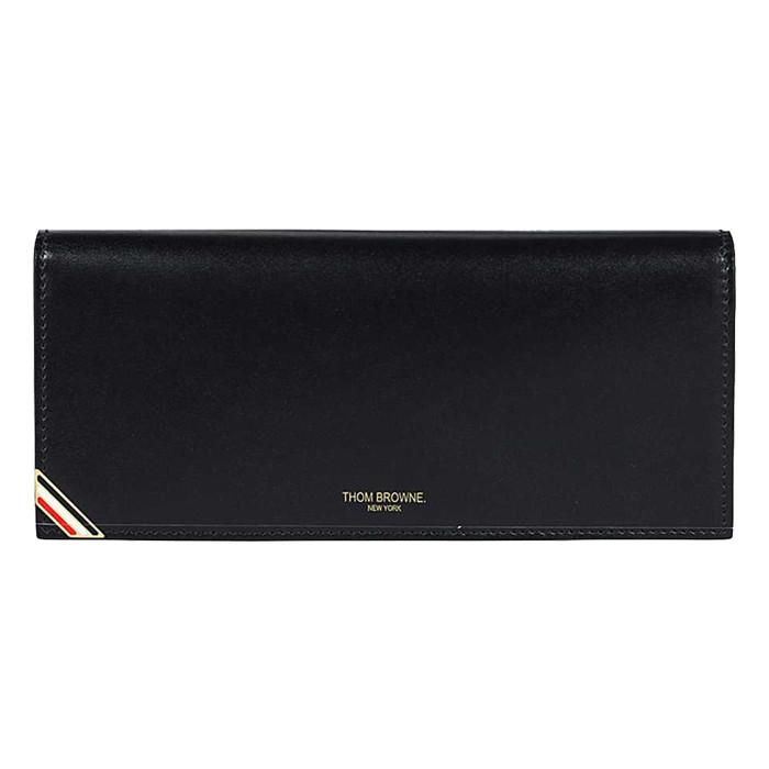 톰브라운 롱 자켓 삼선 장지갑 블랙 카프 레더