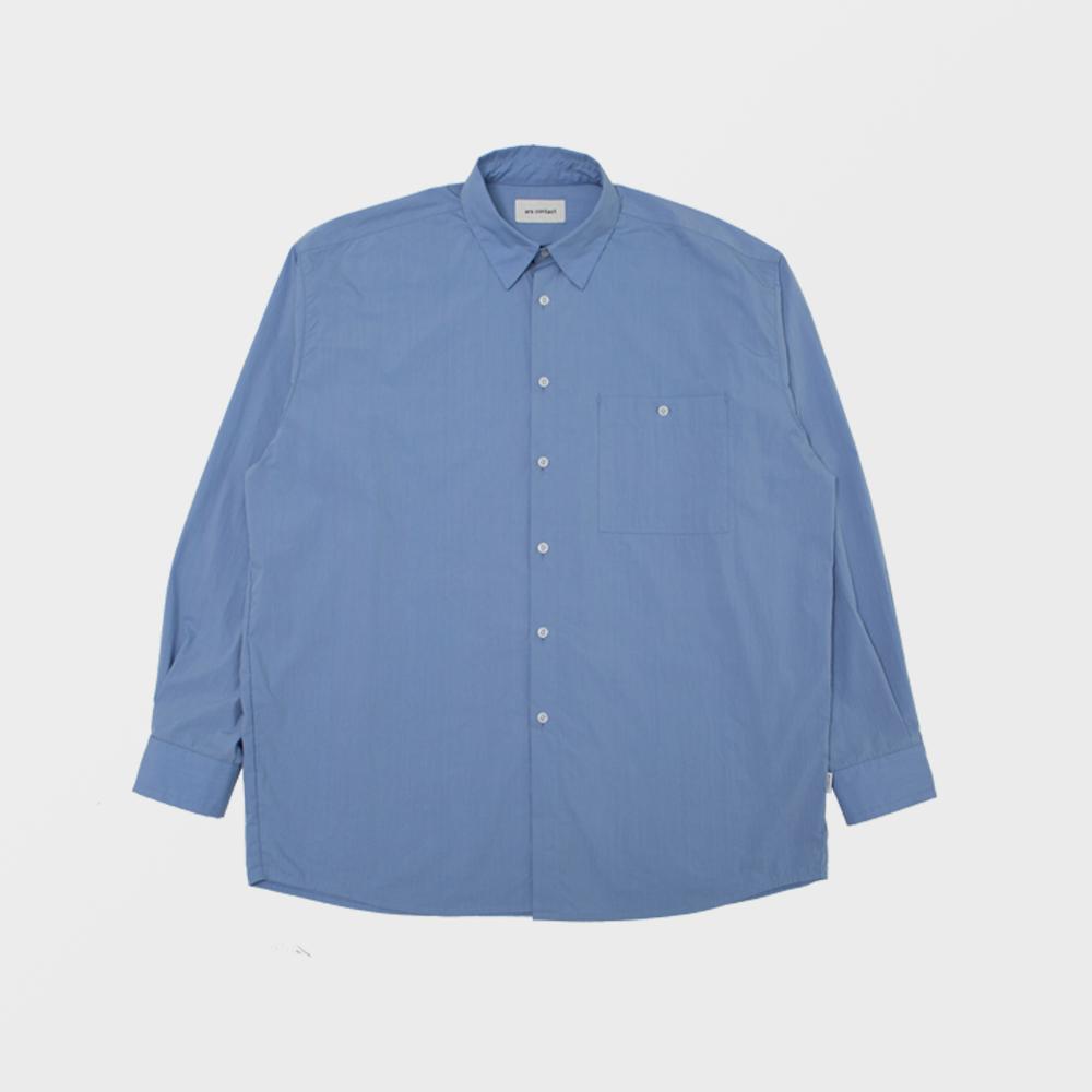 AC COMPACT POPLIN SHIRTS,BLUE
