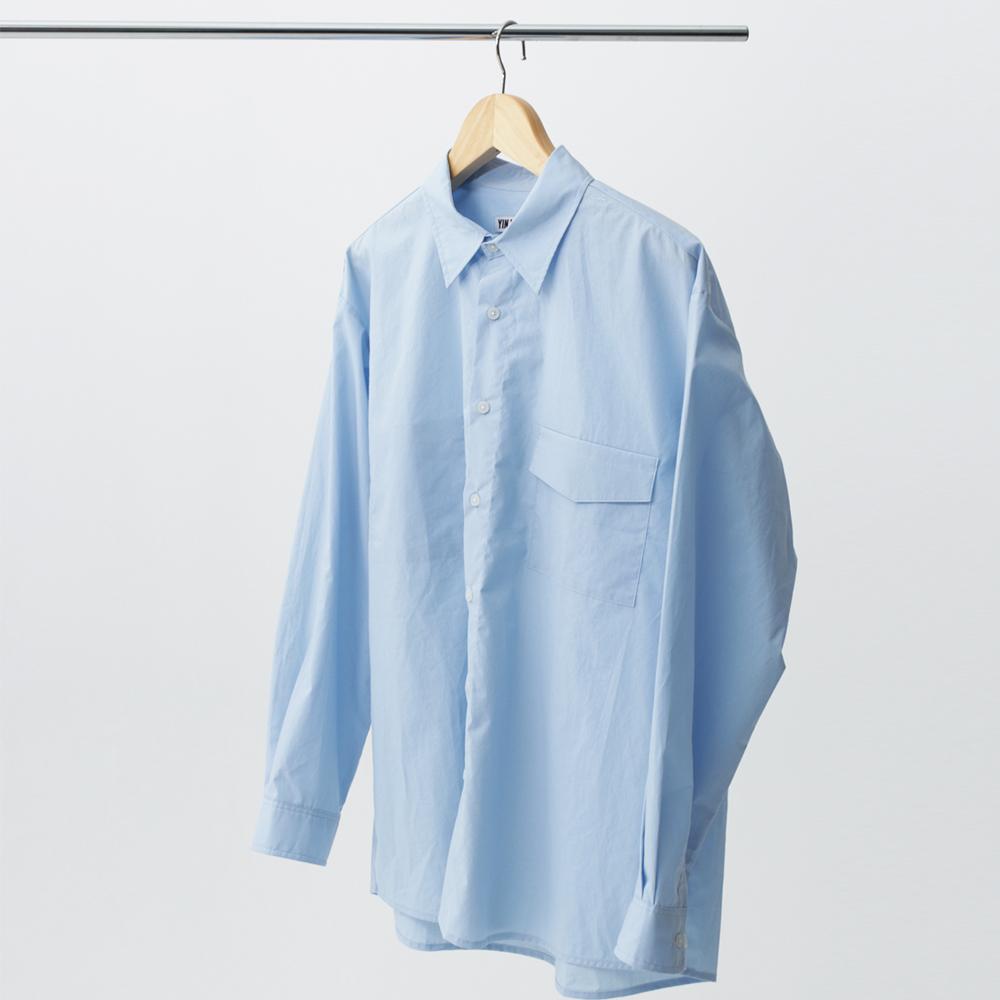 hidden pocket shirt (skyblue)