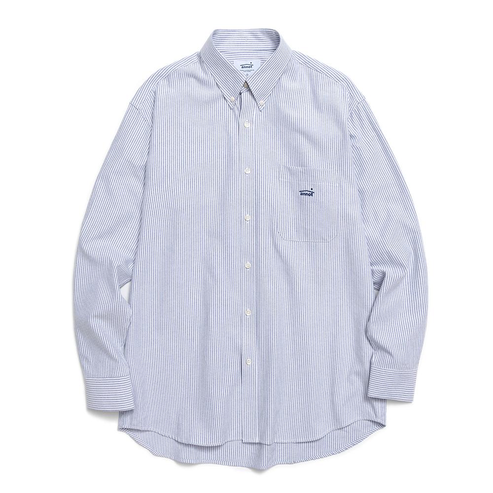 컴피 옥스포드 스트라이프 셔츠 (블루)