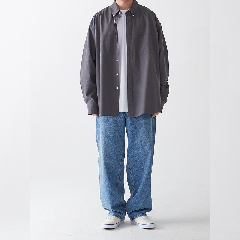 poplin shirt charcoal