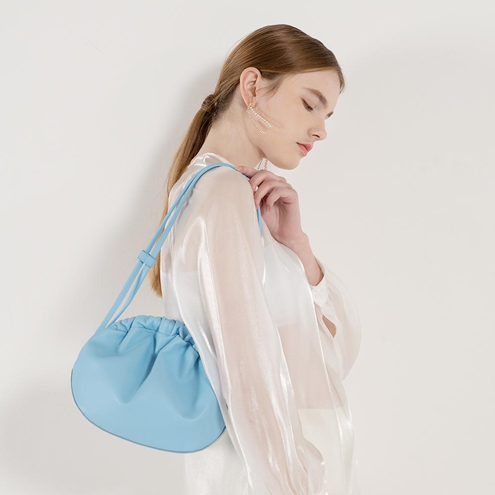 Shirring fling bag[아르센루베]-Blue