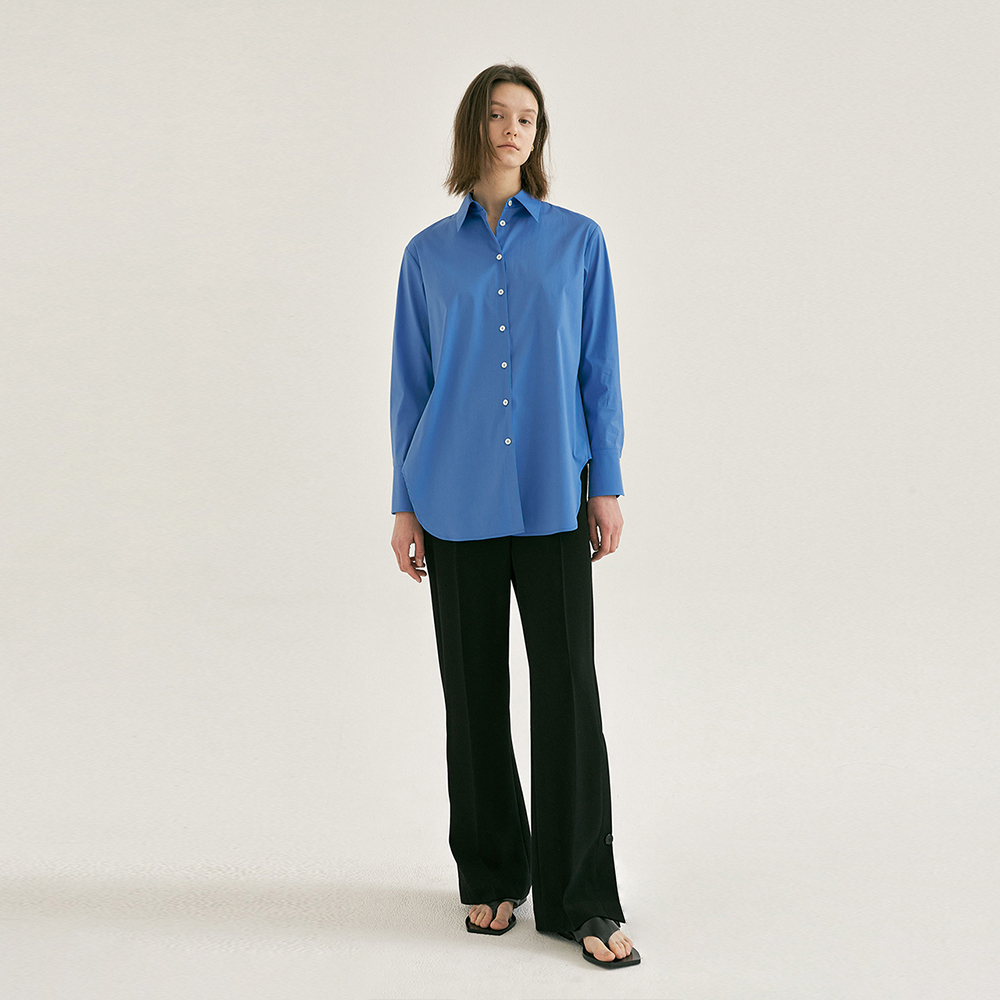 POPLIN GUSSET SHIRT (2colors)
