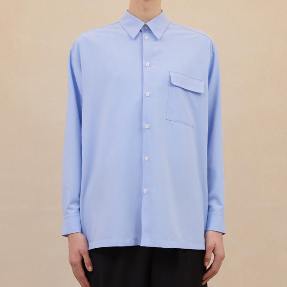 Layered Strap Shirts - Sky Blue