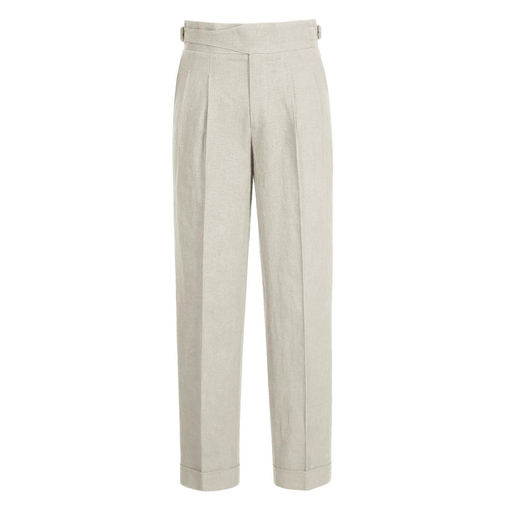 8s Linen Gurkha Trousers (Oatmeal)