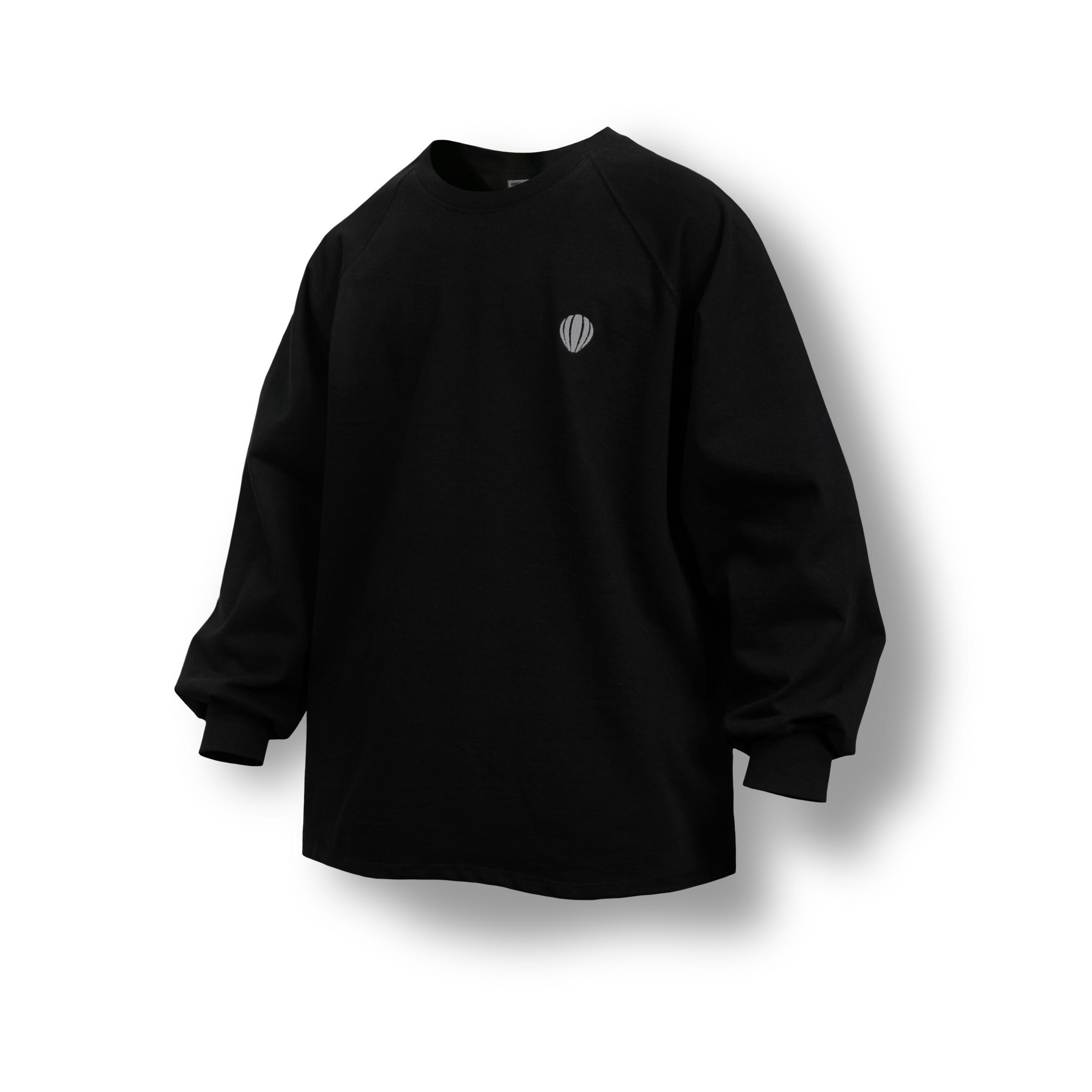 래글런 오버 롱 슬리브 - Black