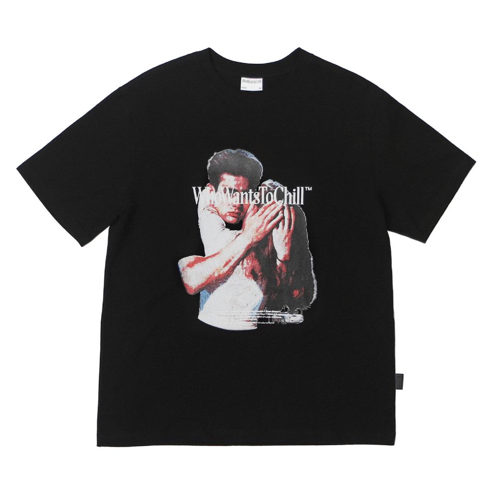J 그래픽 티셔츠 04 블랙