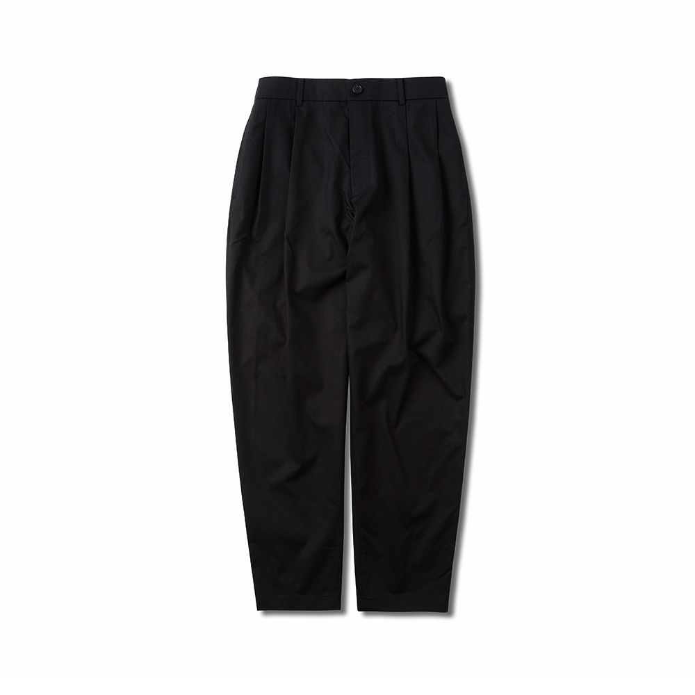 SOHO WIDE TAPERED FIT EASY PANTS BLACK
