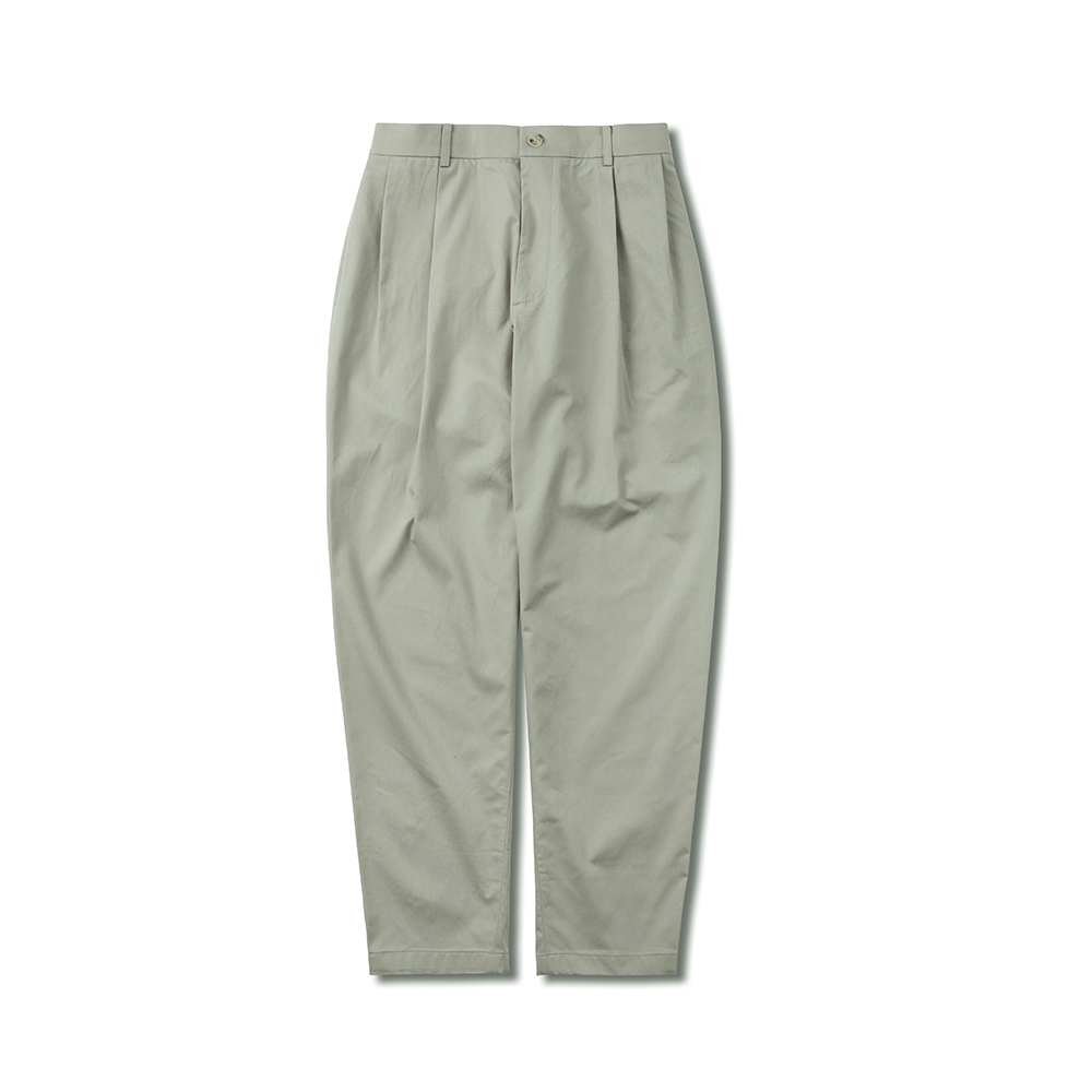 SOHO WIDE TAPERED FIT EASY PANTS L.GREY
