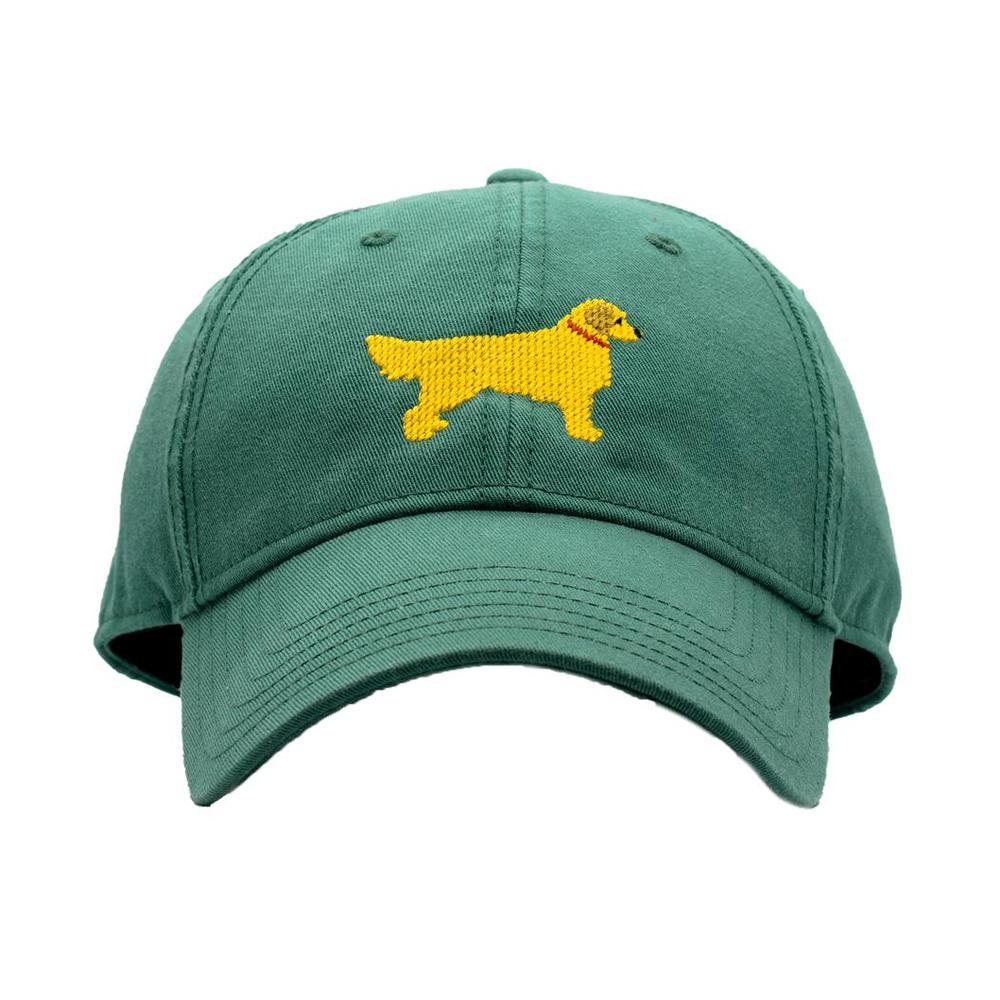 [Hardinglane]Adult`s Hats Golden Retriver on Moss Green