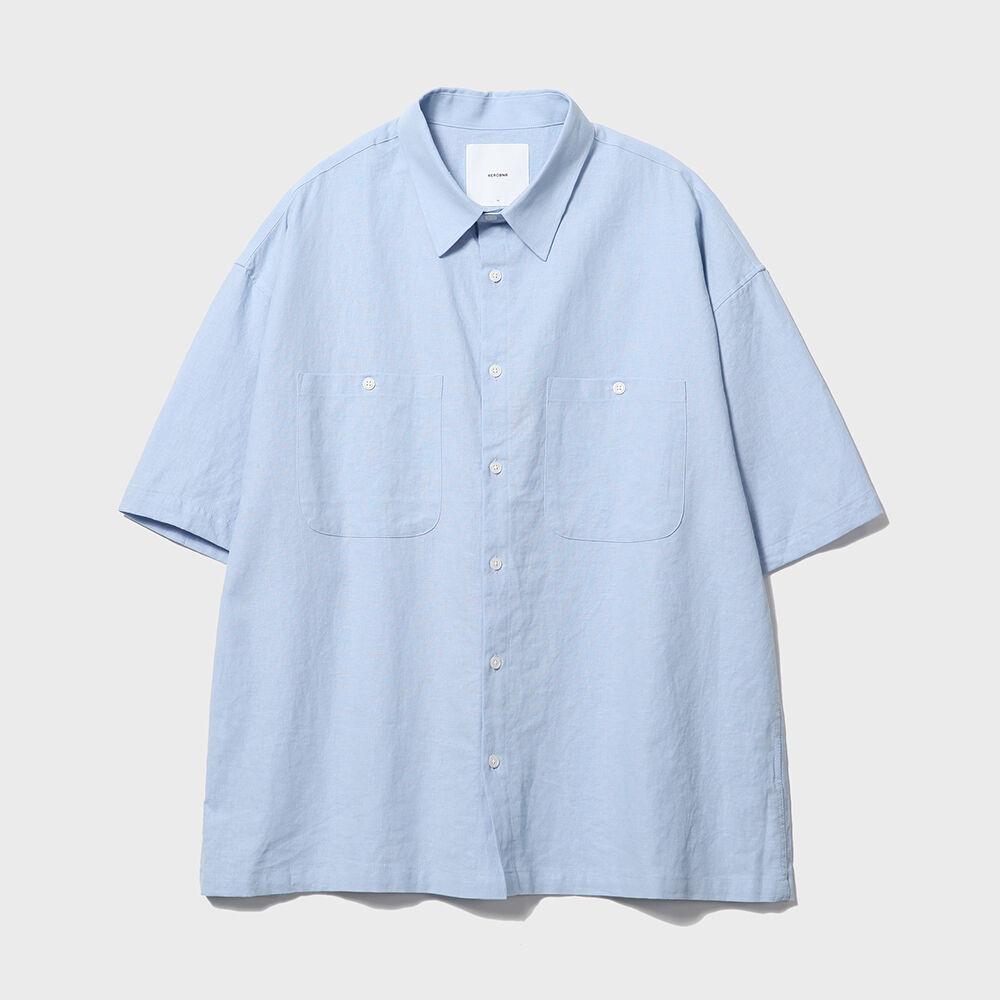 Solid Linen Box Shirts [Sky Blue]