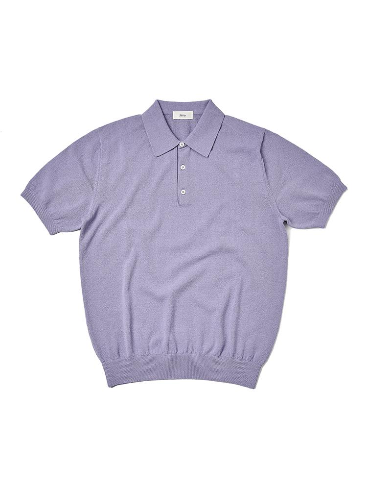 21SS_Polo_knit Lavender