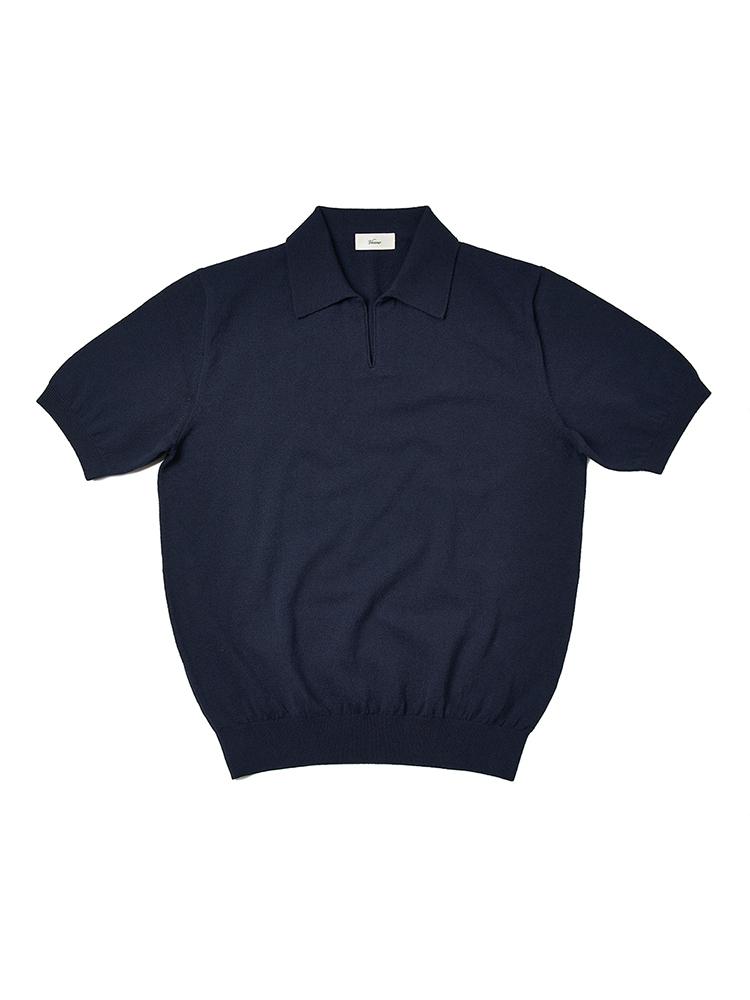[3차 리오더 6월 18일 예약 발송]21SS_Open_Collar_knit Navy