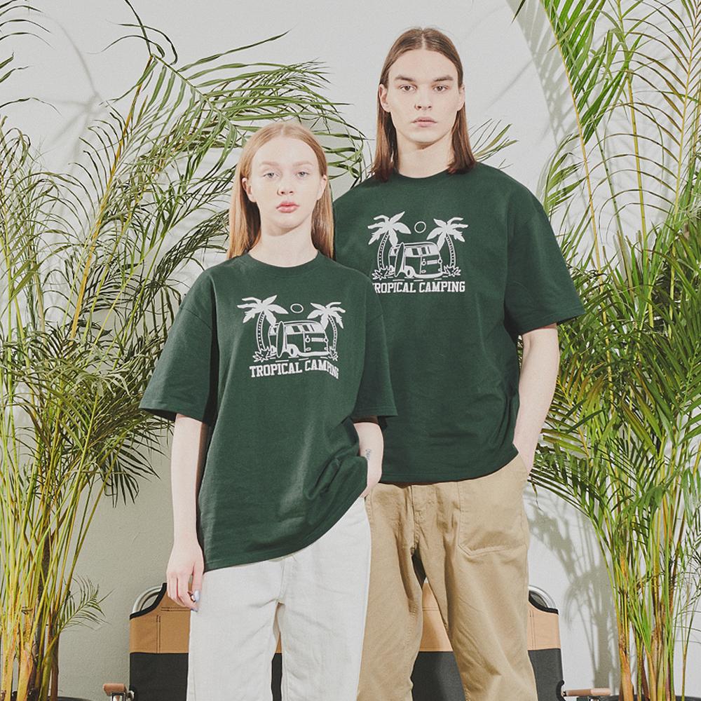파인드칠린 FG3221 썸머캠프 티셔츠 포레스트그린