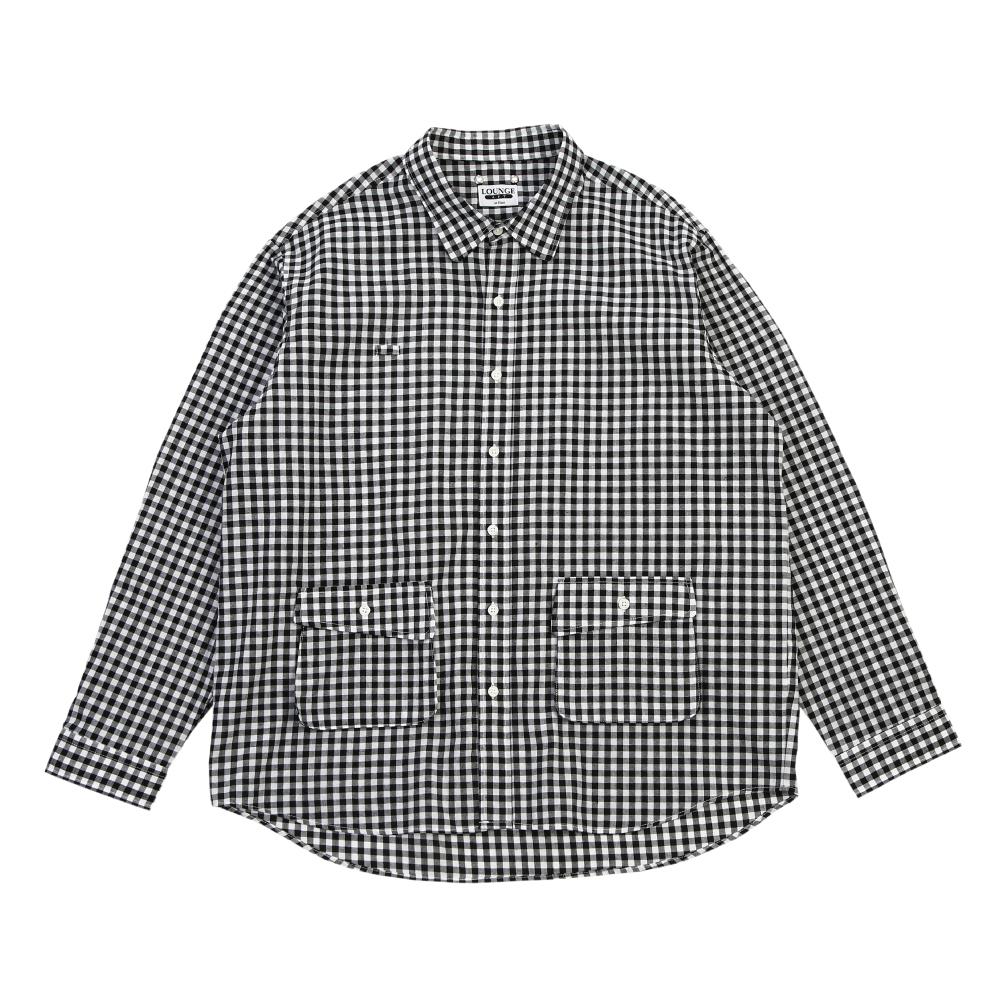 Breezy Gingham-Check Shirt_Black