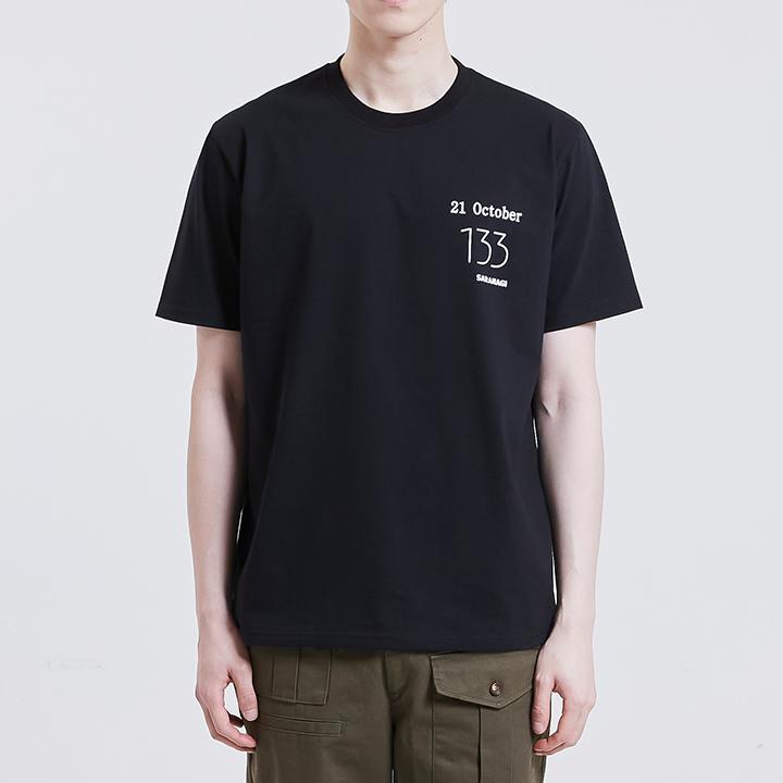133 숏슬리브 티셔츠 [BLACK]
