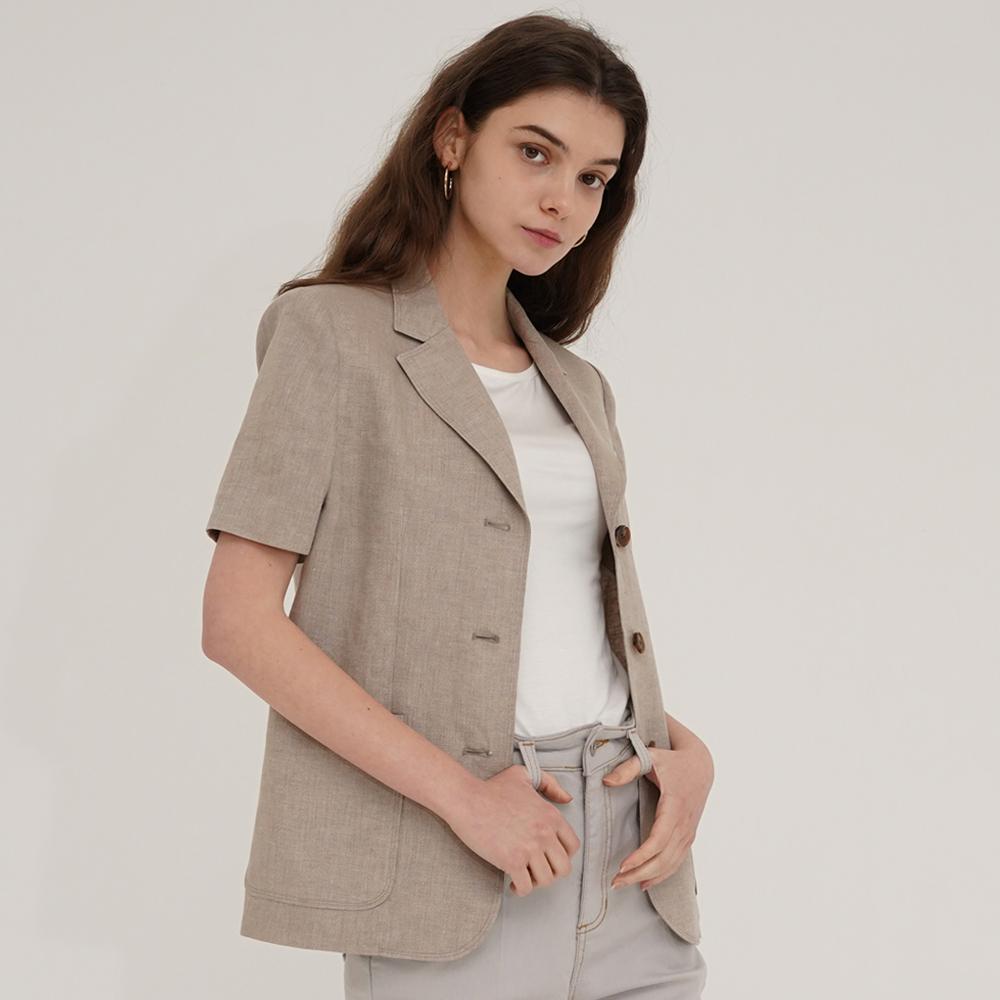 [아웃셀] 6월 21일 순차적 발송 Linen 3 button jacket Beige
