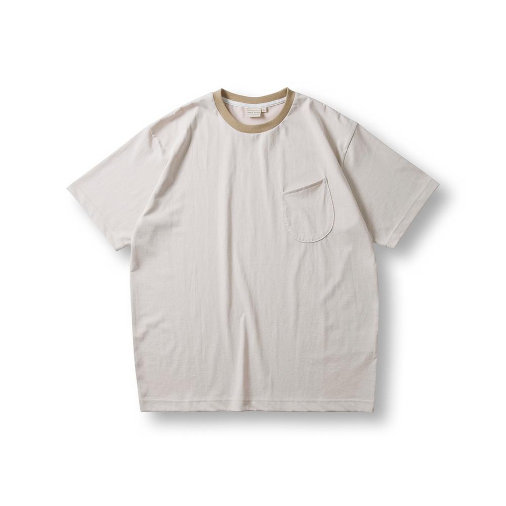 Cool Cotton Wineglass Pocket T - Shirts - Beige