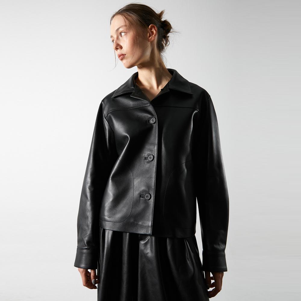 Bari Crop Leather Jacket