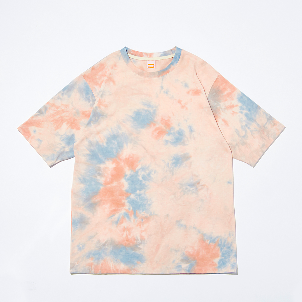 CHIPPER TIE-DYE T-SHIRTS_PINK WOOD