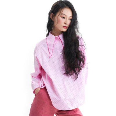 puritan collar pink shirt