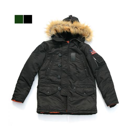 쇼트뉴욕 N-4B Slim Fit Parka (Black)