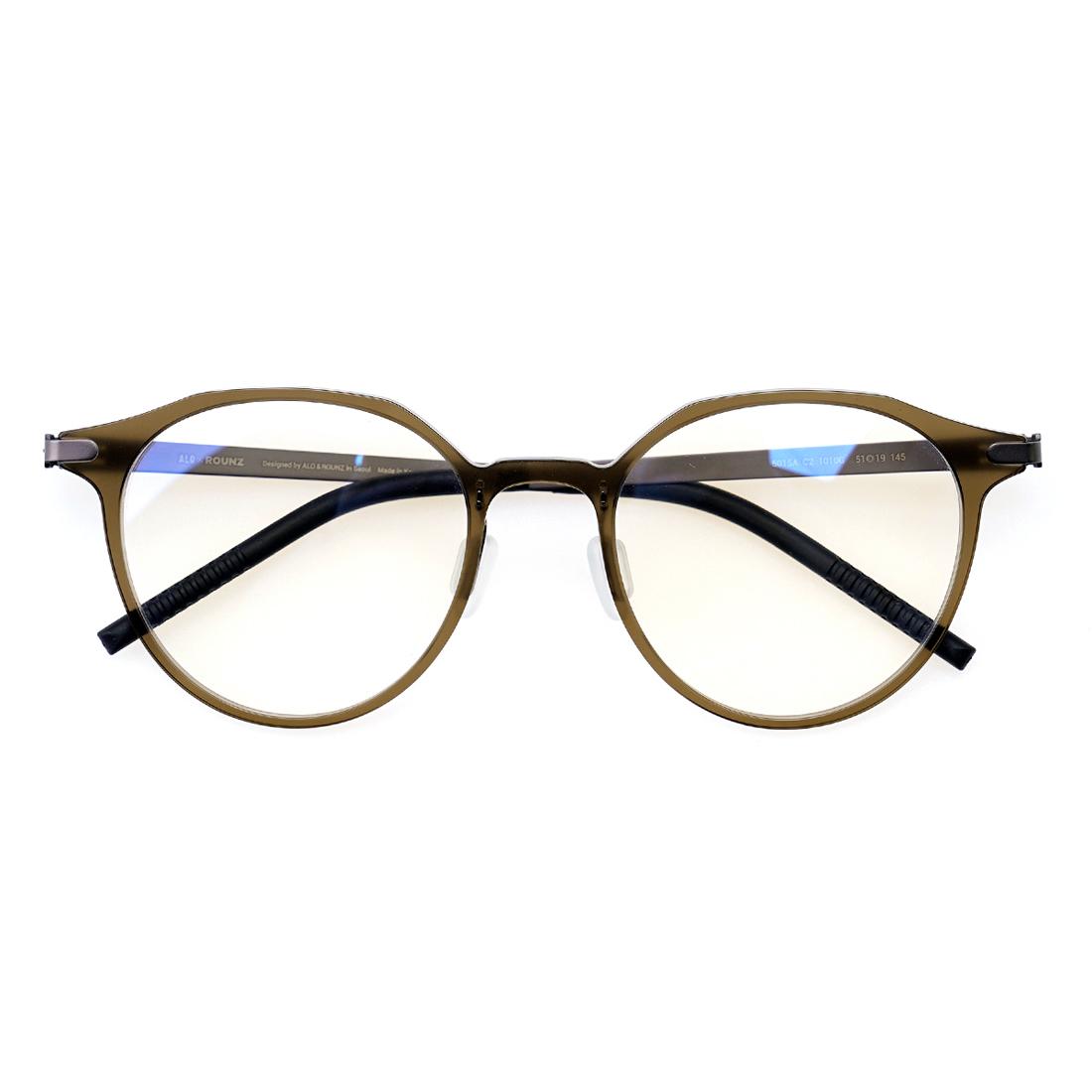 [ALOXROUNZ] AR5015A C2 카키그레이 초경량 안경테