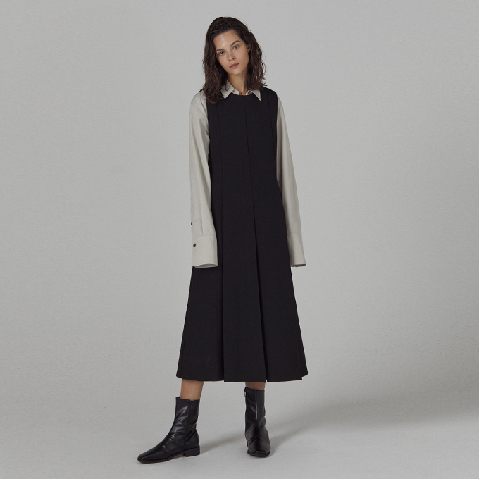 F/W sleeveless long dress_BLACK