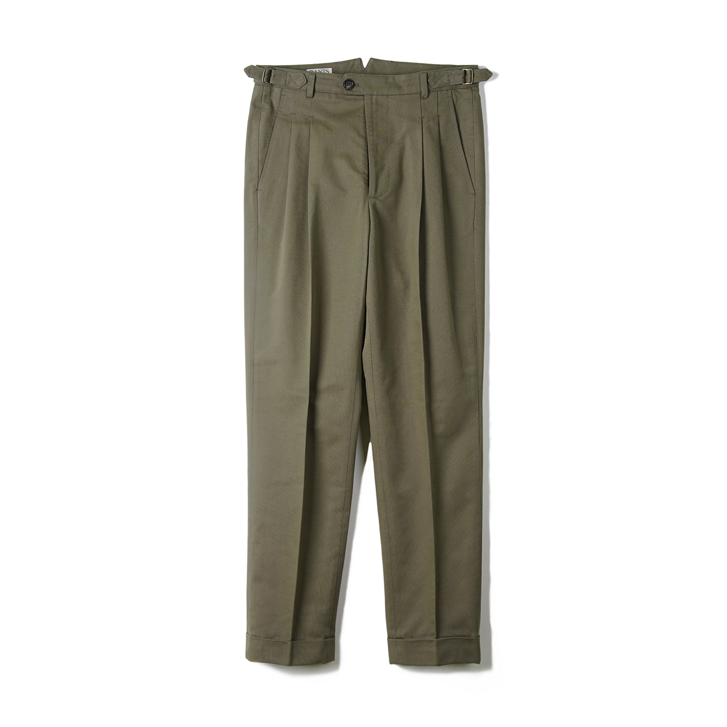 BTS Cotton Two-tuck Pants - Olive Drab