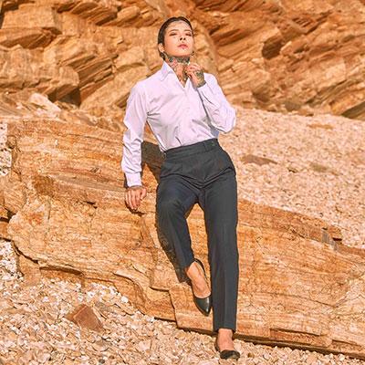 Double-Button Gurkha Pants