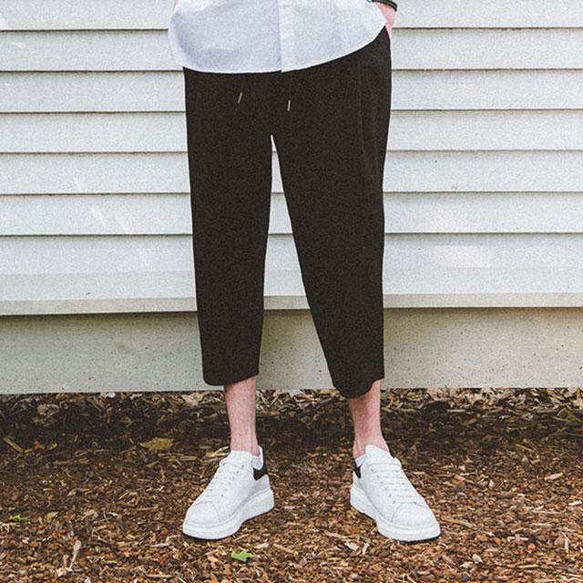 Crop Wide Banding Pants 크롭 와이드 밴딩 팬츠