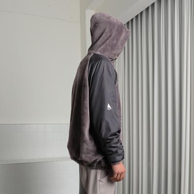 Fleeced hoodie (dusty violet)