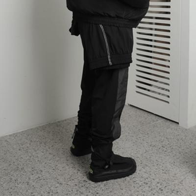 Round flying pants (black)