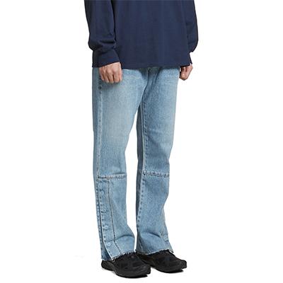 Snap Denim Pants Light Blue