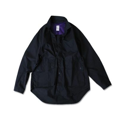 코튼 피셔맨 셔츠 깅엄 네이비