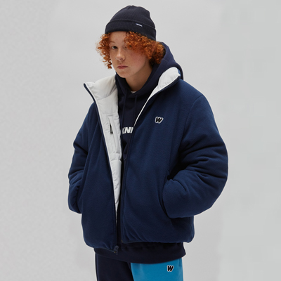 REVERSIBLE PADDED JACKET NAVY