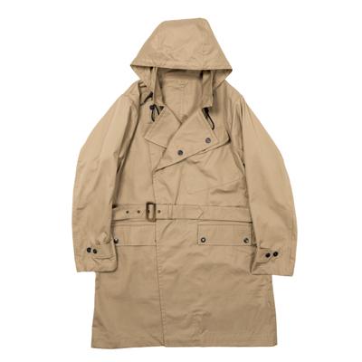 Workers - Hooded Moto Coat [Navy & Beige][Ventile Twill][워커스]