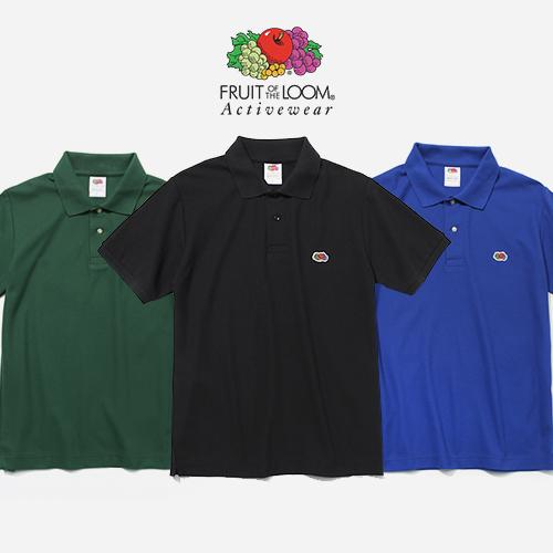 프룻오브더룸 와펜 폴로 티셔츠