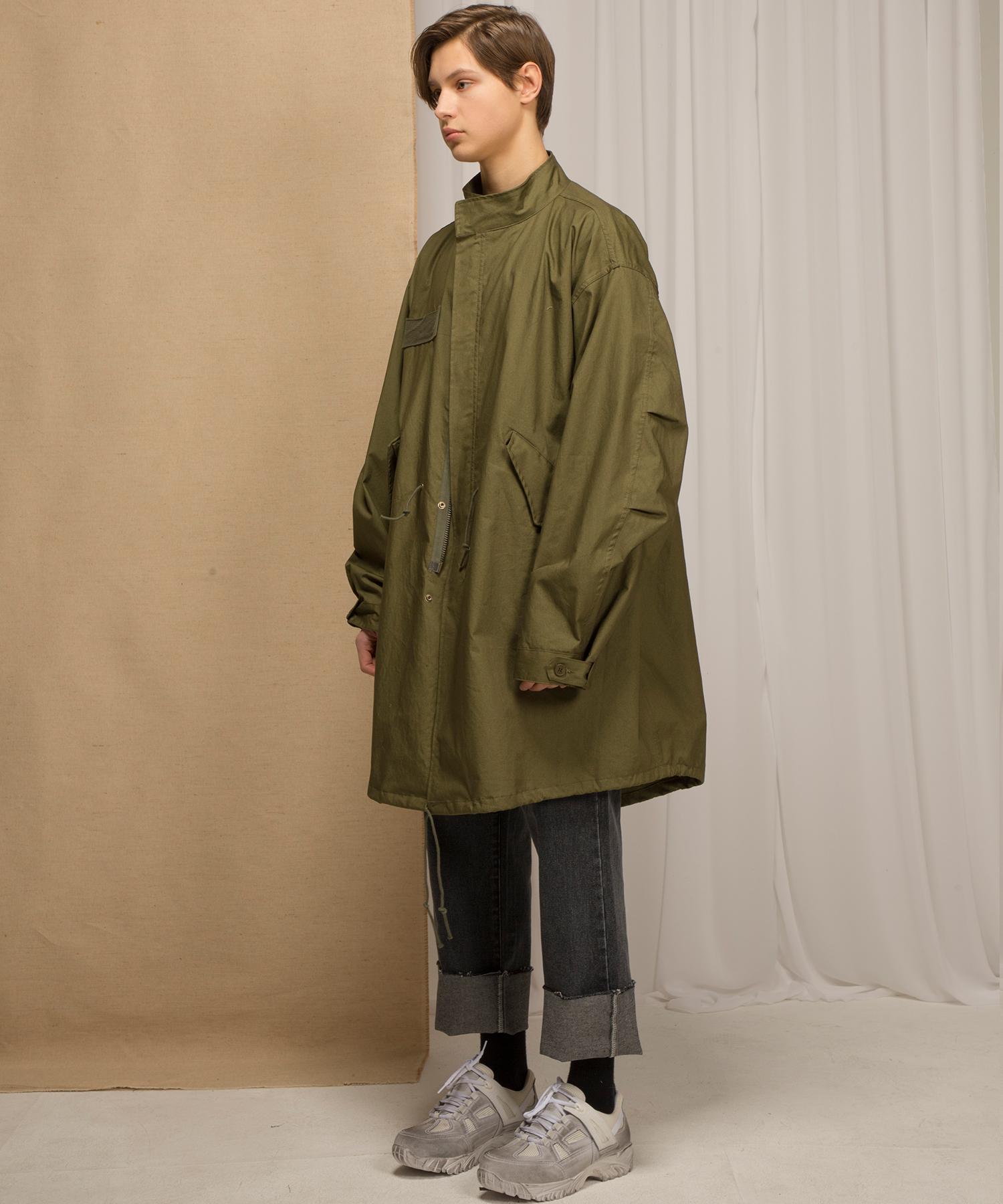 M65 피시테일 코트[카키]